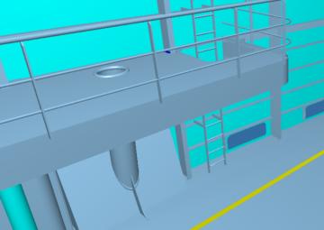 outfitting, platform, handrail, railing, ladder