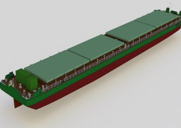 Dry cargo barge for ukrainian river Dnipro