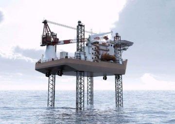 jack-up, wind installation, sevice barge, accommodation, uae