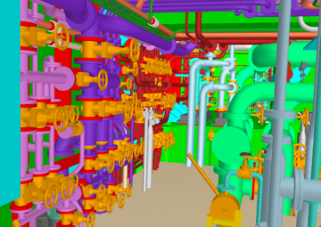 Piping and valves in Engine Room